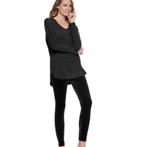 Felina Womens Ultra Luxe Velour 2-Piece Pajama Set